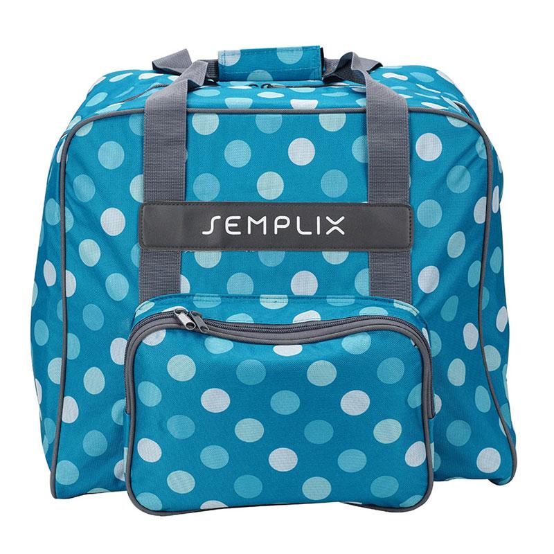 Overlocktasche im trendigen Polka Dots Design in vielen bunten Farben